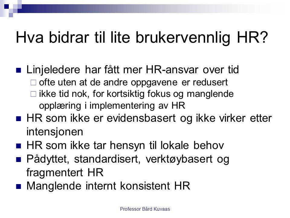 Hva bidrar til lite brukervennlig HR