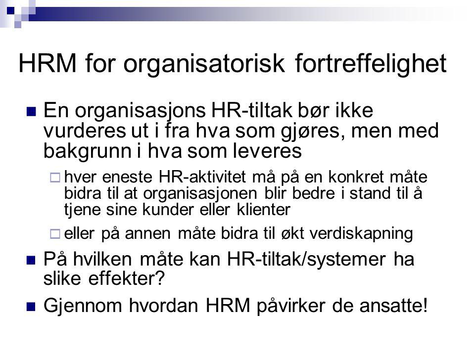 HRM for organisatorisk fortreffelighet