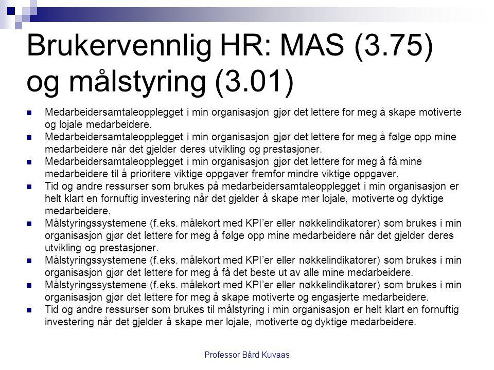 Brukervennlig HR: MAS (3.75) og målstyring (3.01)