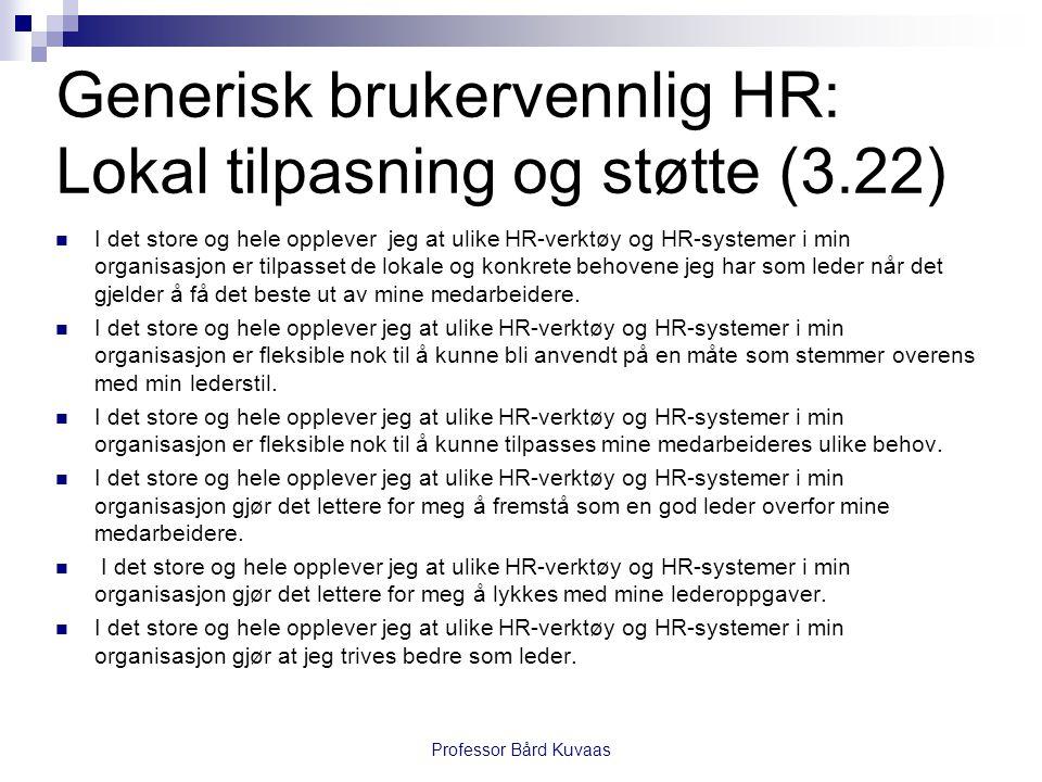 Generisk brukervennlig HR: Lokal tilpasning og støtte (3.22)