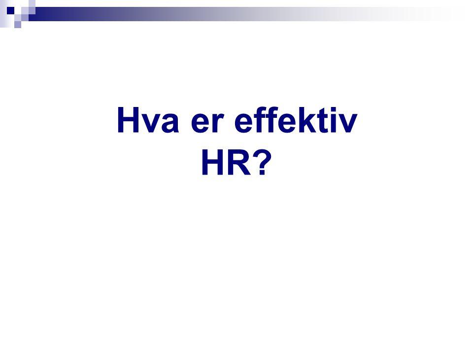 Hva er effektiv HR