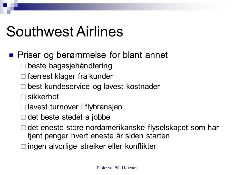 Southwest Airlines Priser og berømmelse for blant annet