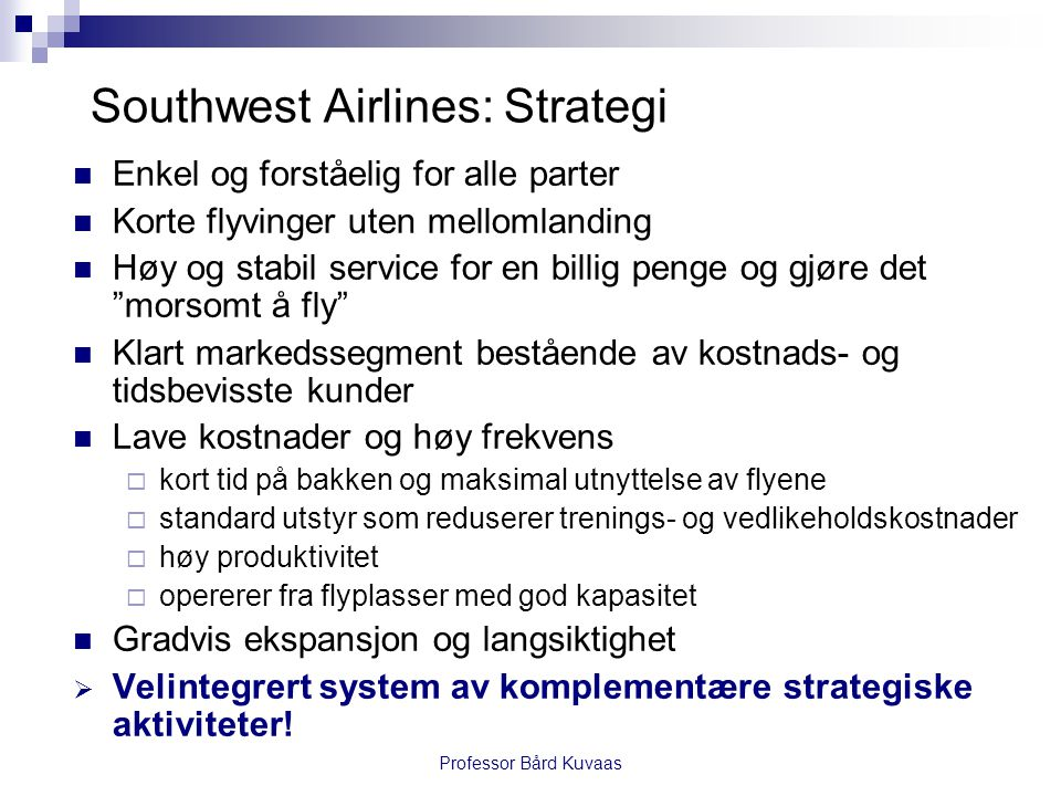 Southwest Airlines: Strategi