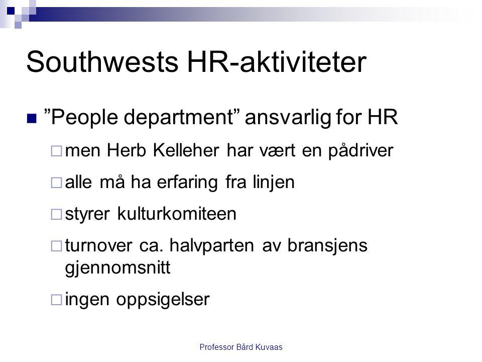 Southwests HR-aktiviteter