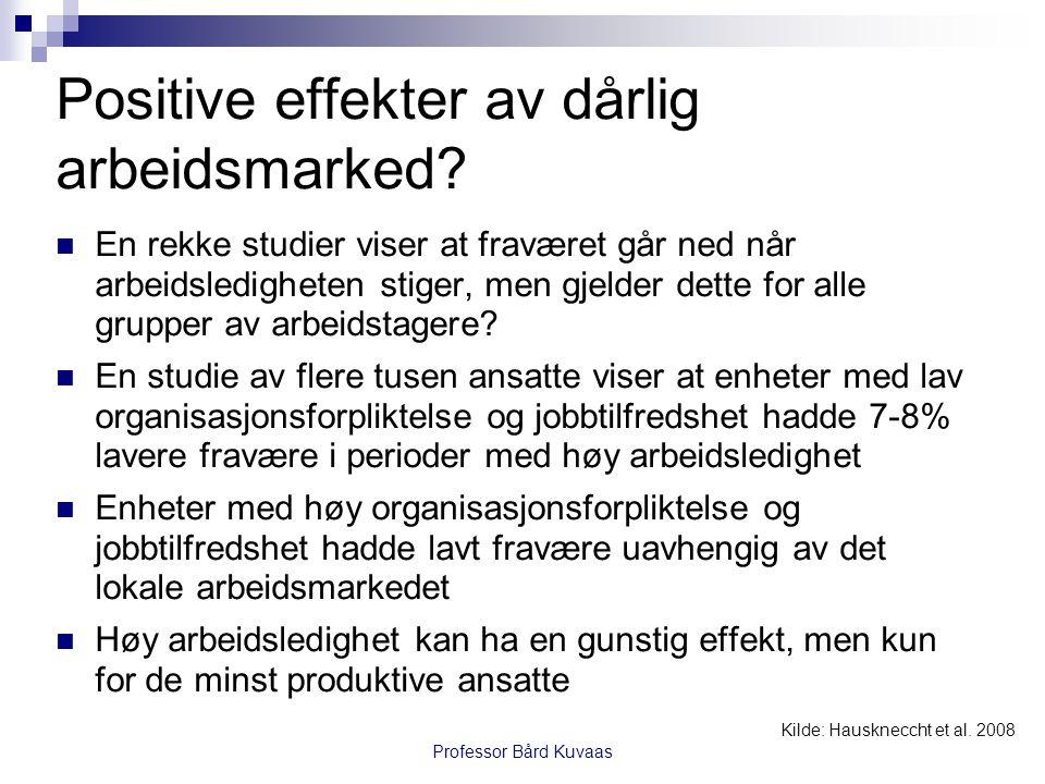 Positive effekter av dårlig arbeidsmarked