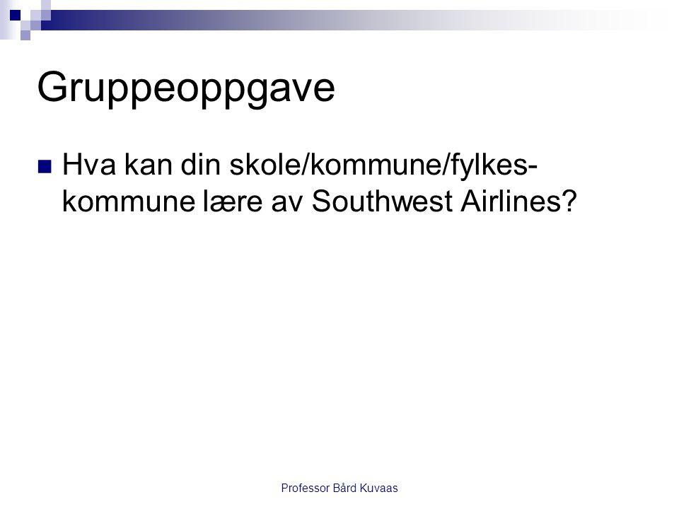 Gruppeoppgave Hva kan din skole/kommune/fylkes-kommune lære av Southwest Airlines.