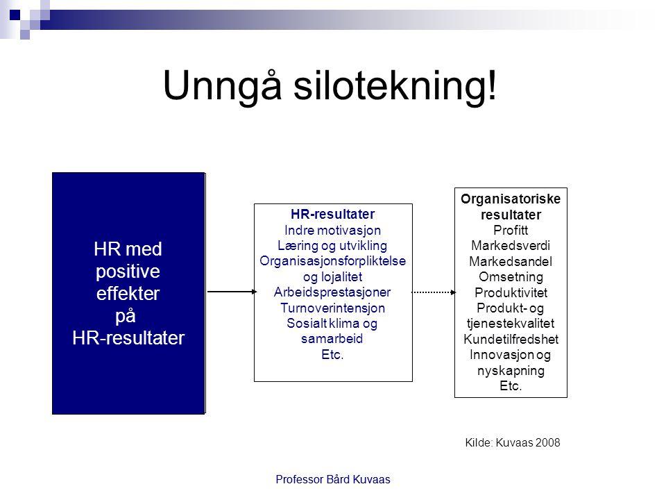 Unngå silotekning! HR med positive effekter på HR-resultater HR