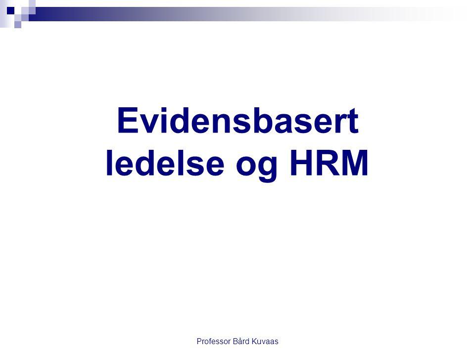 Evidensbasert ledelse og HRM