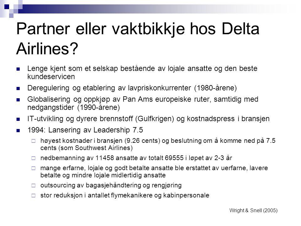 Partner eller vaktbikkje hos Delta Airlines