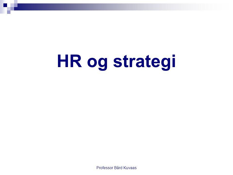 HR og strategi Professor Bård Kuvaas