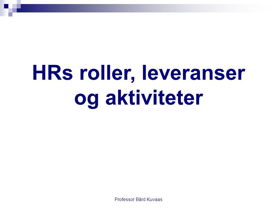 HRs roller, leveranser og aktiviteter