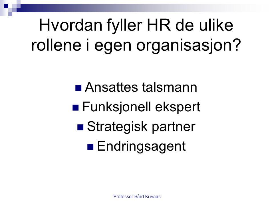 Hvordan fyller HR de ulike rollene i egen organisasjon