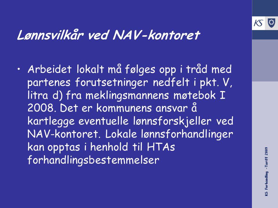 Lønnsvilkår ved NAV-kontoret