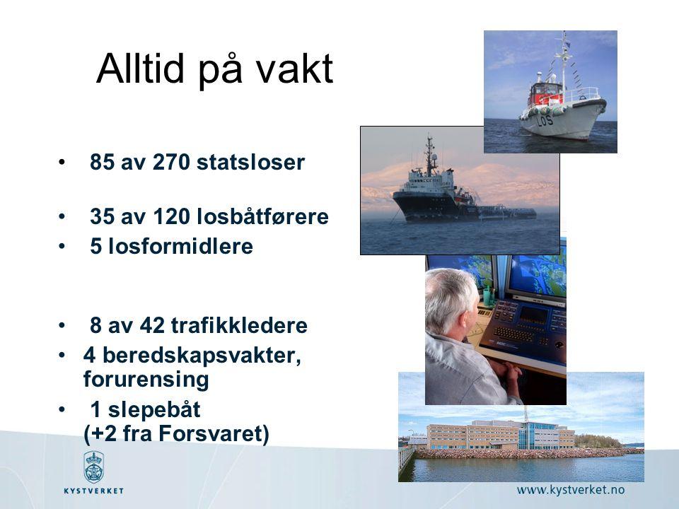 Alltid på vakt 85 av 270 statsloser 35 av 120 losbåtførere