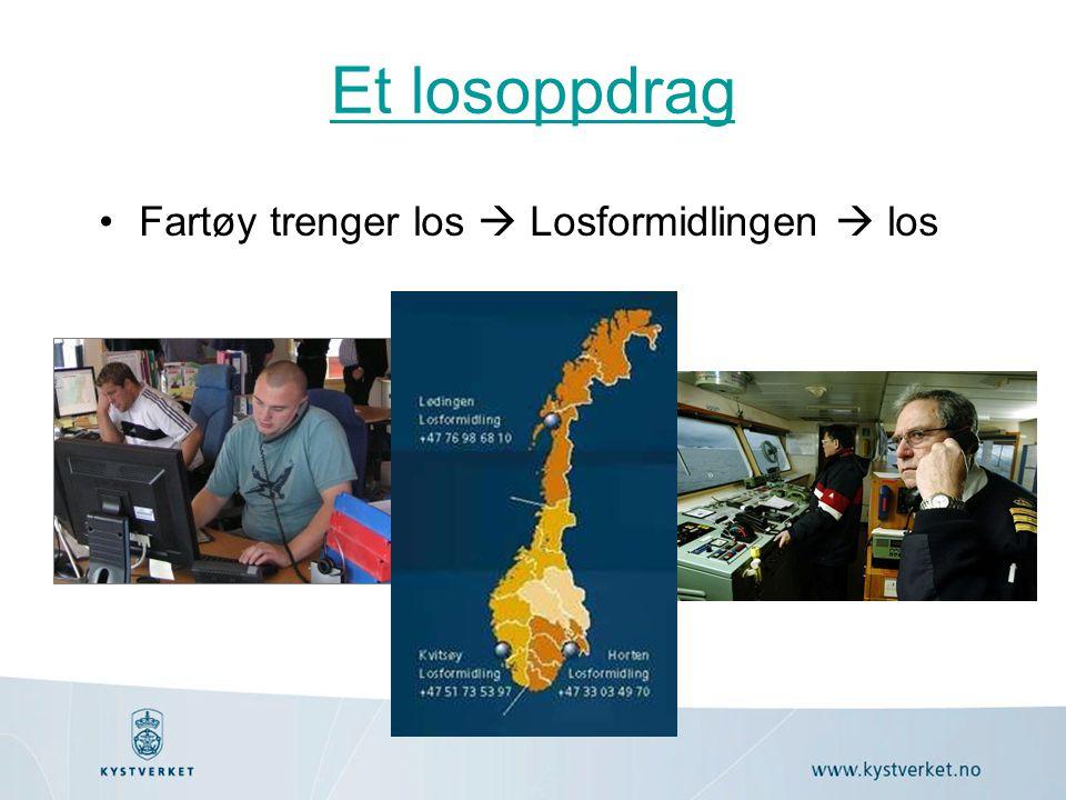 Et losoppdrag Fartøy trenger los  Losformidlingen  los