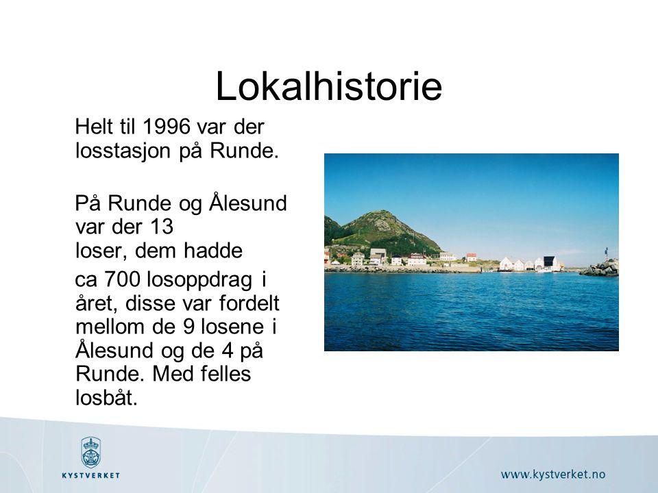Lokalhistorie Helt til 1996 var der losstasjon på Runde.