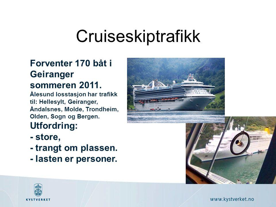Cruiseskiptrafikk Forventer 170 båt i Geiranger sommeren 2011.