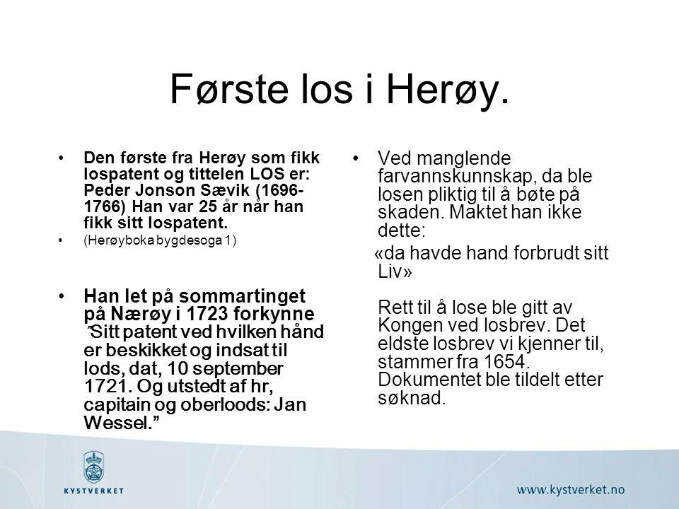 Første los i Herøy.