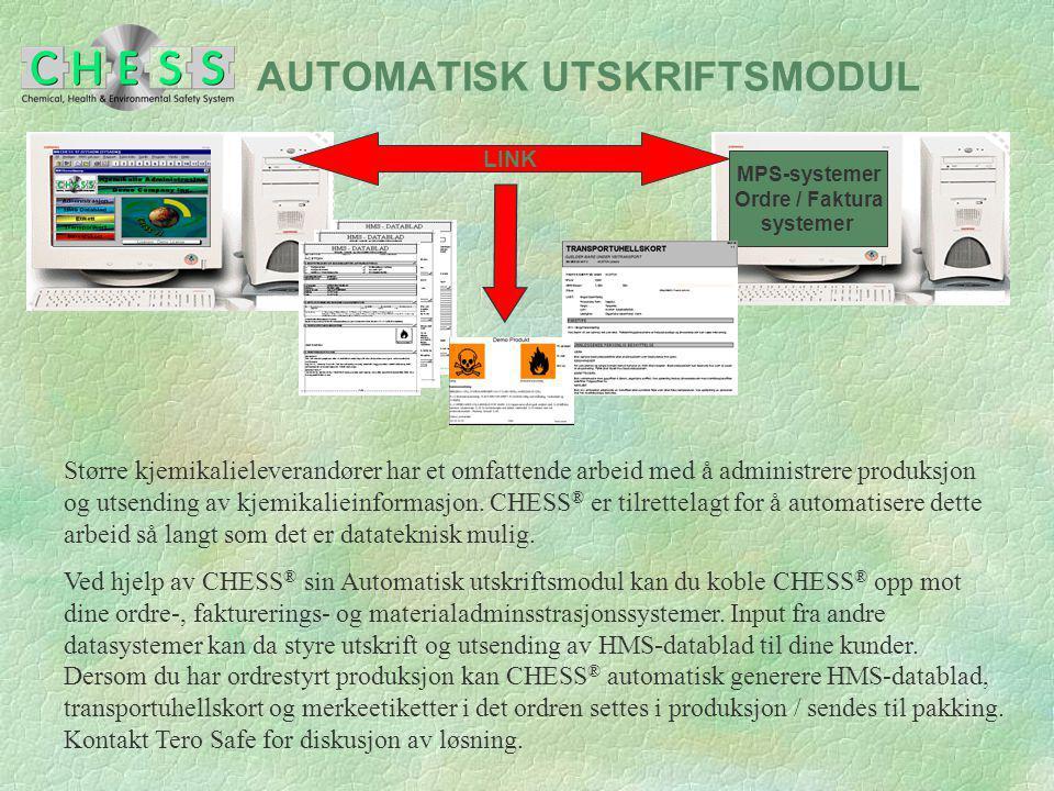 AUTOMATISK UTSKRIFTSMODUL