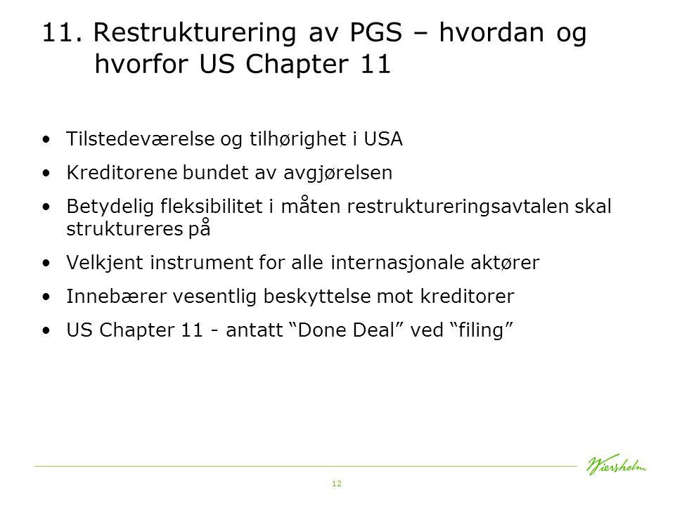 11. Restrukturering av PGS – hvordan og hvorfor US Chapter 11