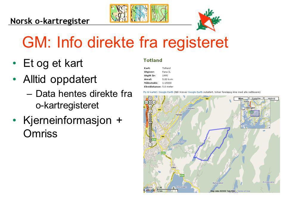 GM: Info direkte fra registeret