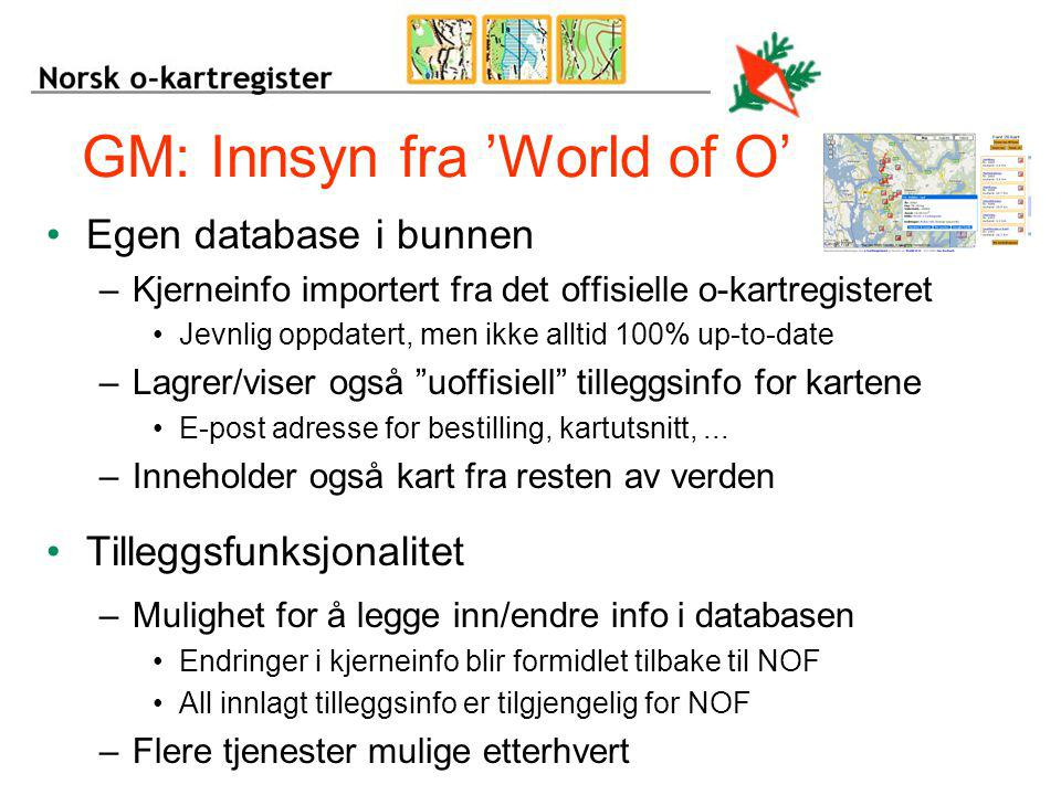 GM: Innsyn fra 'World of O'