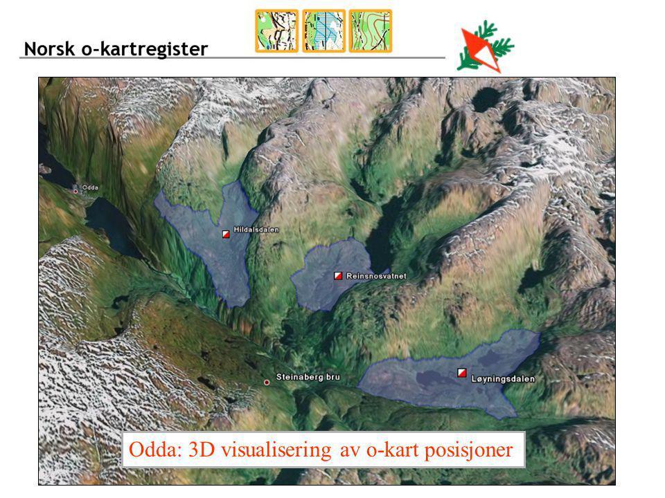 Odda: 3D visualisering av o-kart posisjoner