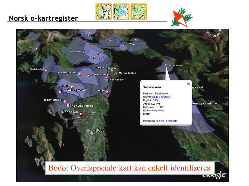 Bodø: Overlappende kart kan enkelt identifiseres