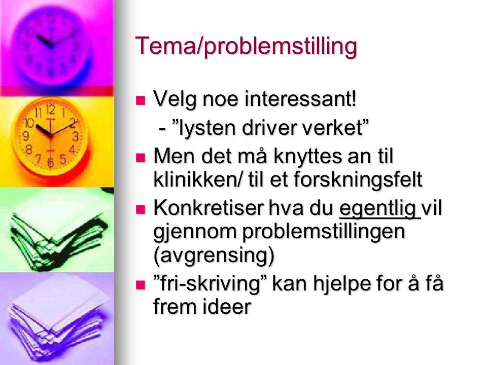 Tema/problemstilling