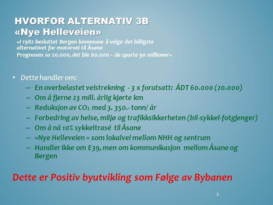 HVORFOR ALTERNATIV 3B «Nye Helleveien»