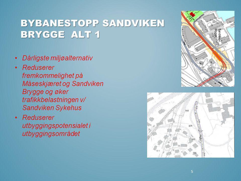 BYBANESTOPP SANDVIKEN BRYGGE ALT 1