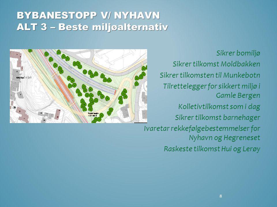 BYBANESTOPP V/ NYHAVN ALT 3 – Beste miljøalternativ