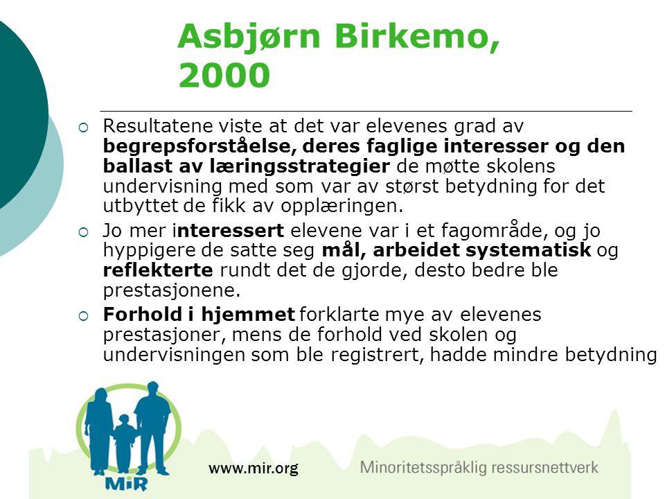 Asbjørn Birkemo, 2000
