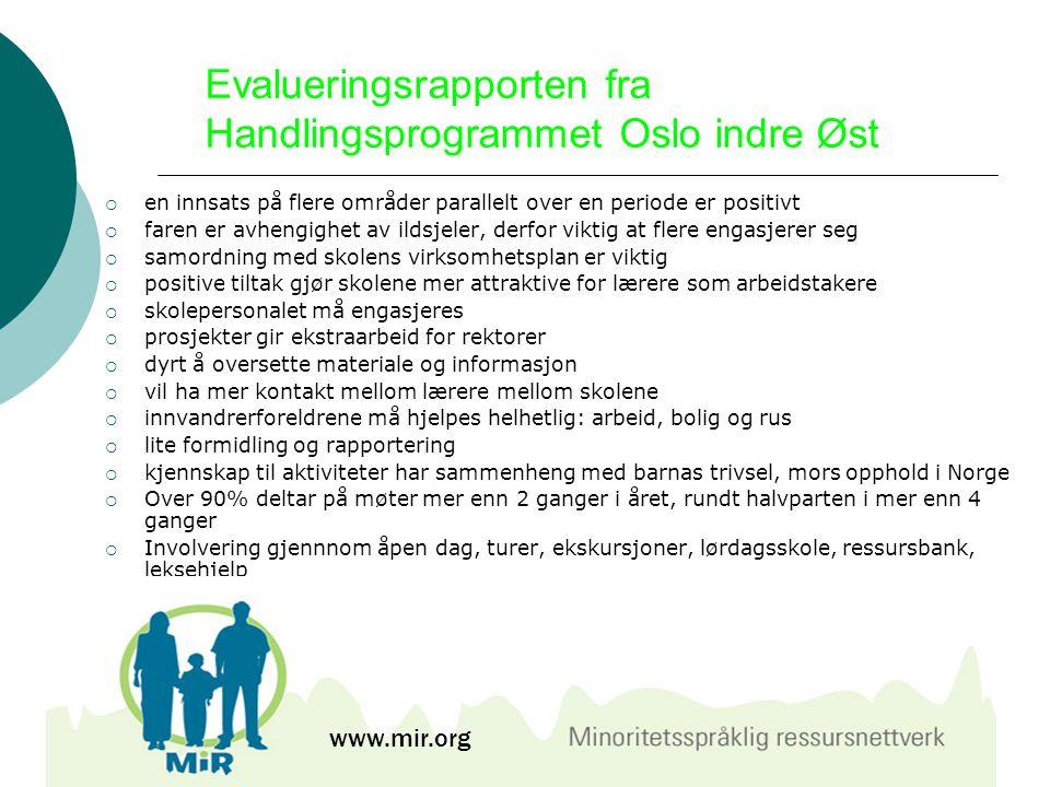 Evalueringsrapporten fra Handlingsprogrammet Oslo indre Øst