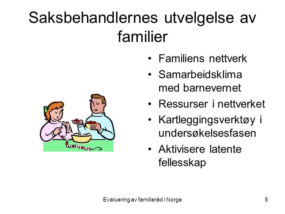 Saksbehandlernes utvelgelse av familier