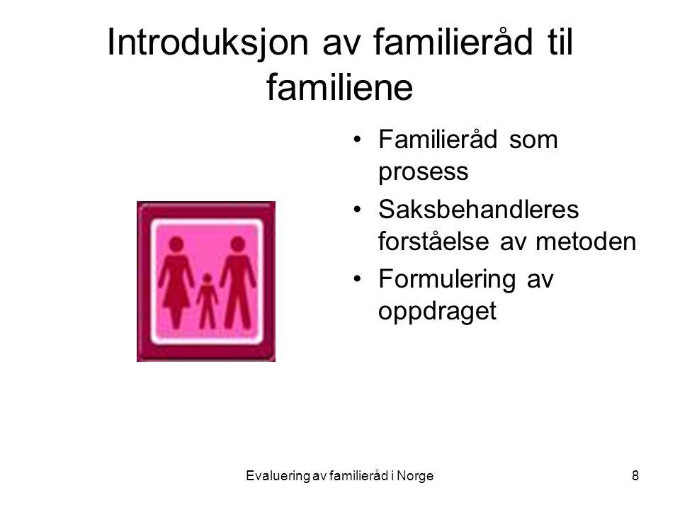Introduksjon av familieråd til familiene