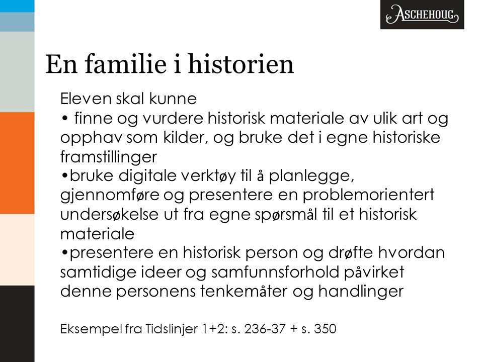 En familie i historien Eleven skal kunne