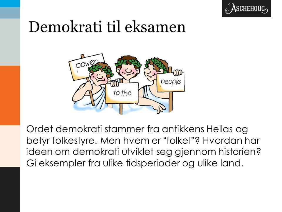 Demokrati til eksamen