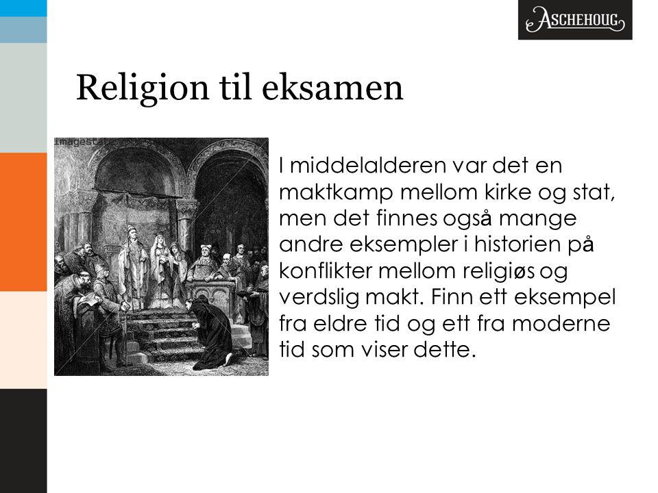 Religion til eksamen