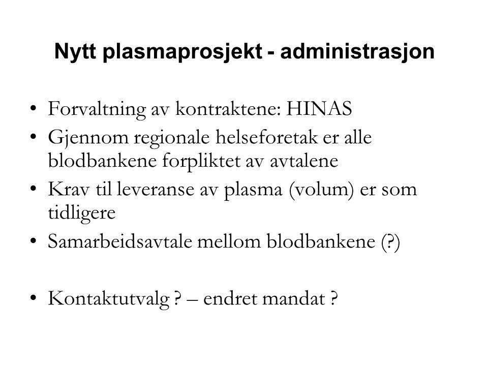 Nytt plasmaprosjekt - administrasjon