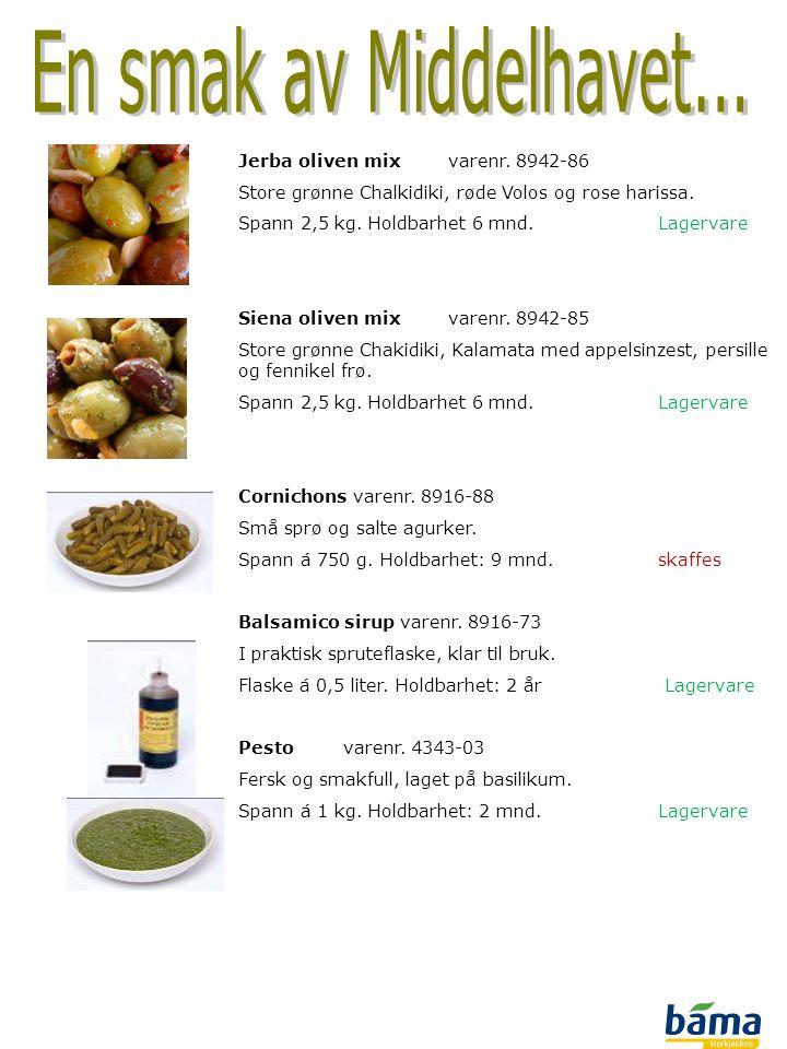 En smak av Middelhavet... Jerba oliven mix varenr. 8942-86
