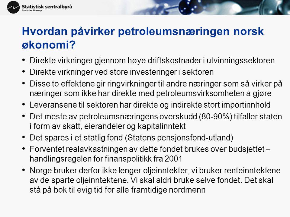 Hvordan påvirker petroleumsnæringen norsk økonomi