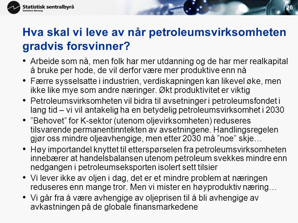 Hva skal vi leve av når petroleumsvirksomheten gradvis forsvinner