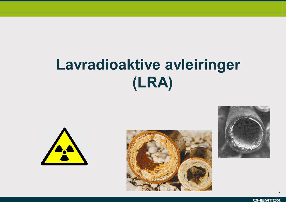 Lavradioaktive avleiringer (LRA)
