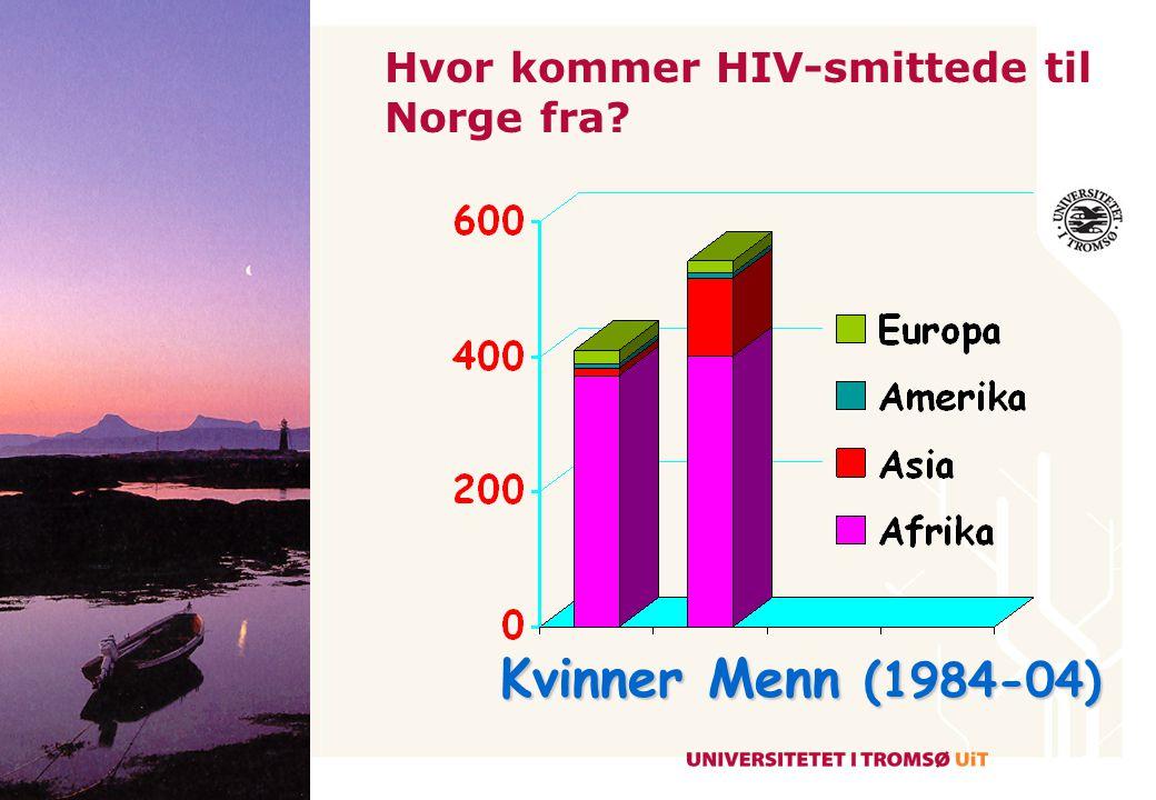 Hvor kommer HIV-smittede til Norge fra