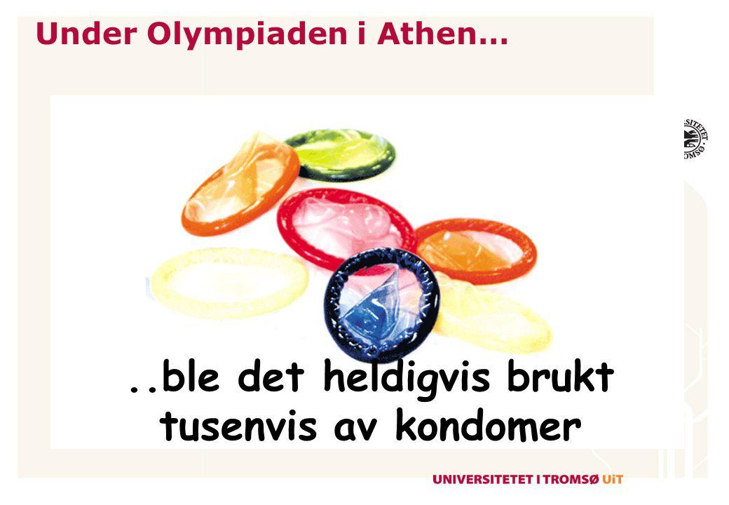 Under Olympiaden i Athen…