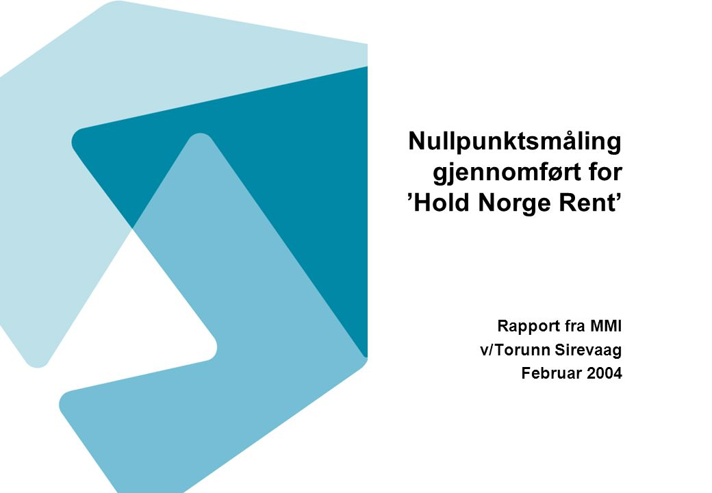 Nullpunktsmåling gjennomført for 'Hold Norge Rent'