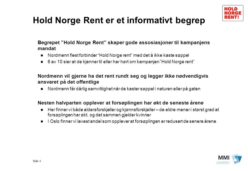 Hold Norge Rent er et informativt begrep