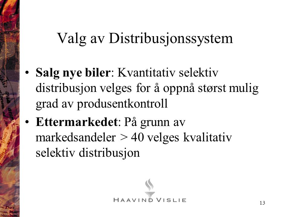 Valg av Distribusjonssystem