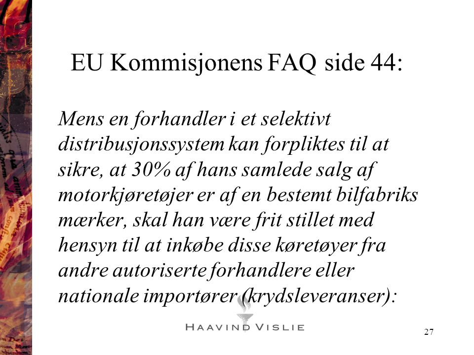 EU Kommisjonens FAQ side 44:
